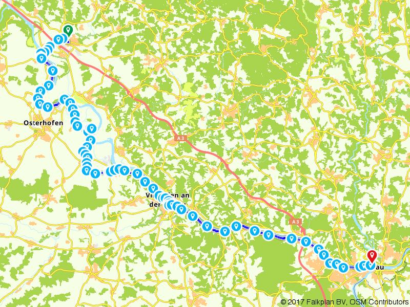 Donaufietspad Etappe 3 (Hengersberg - Passau)