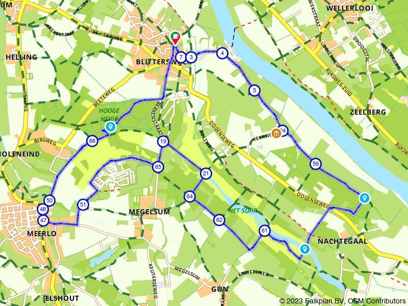 Wandelen rondom Blitterswijck