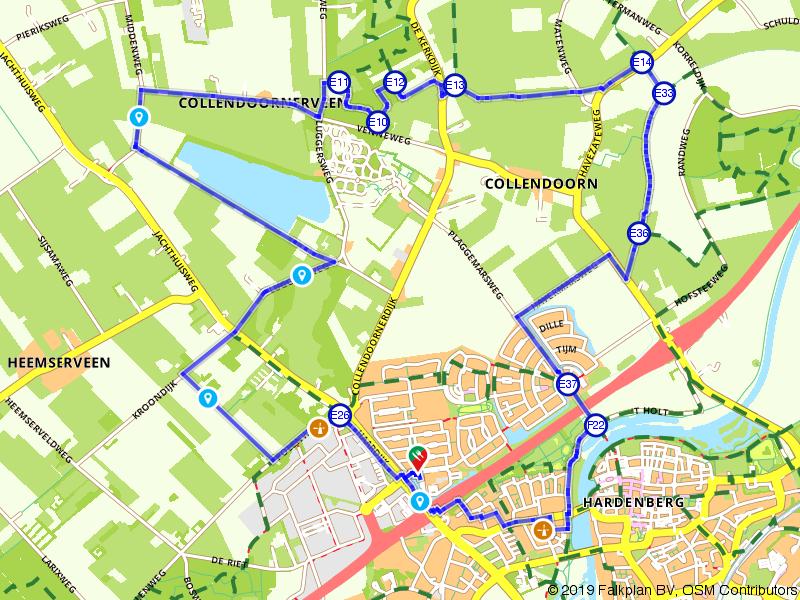 Molenroute Hardenberg via het wandelnetwerk