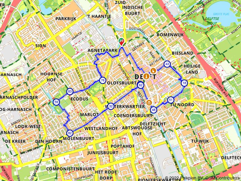 Stadswandeling Delft, langs groen en geschiedenis