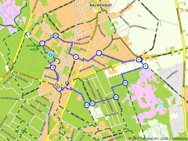 Suske en Wiske route