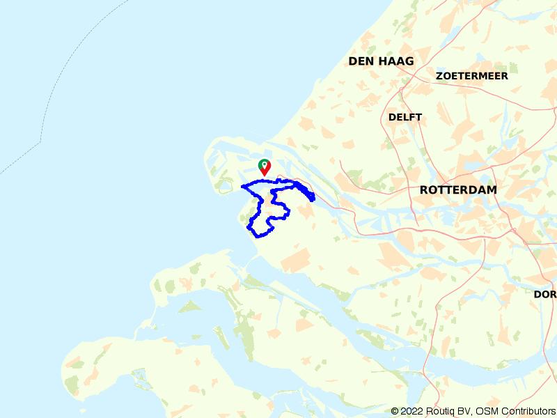 Duinen, strand en meren van Voorne-Putten