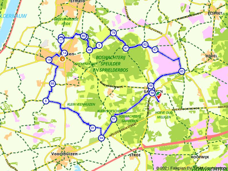 Fietsen door het Houtdorperveld, het Speulderbos en Putten