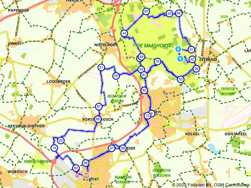 Vanuit Uden het Brabantse land door