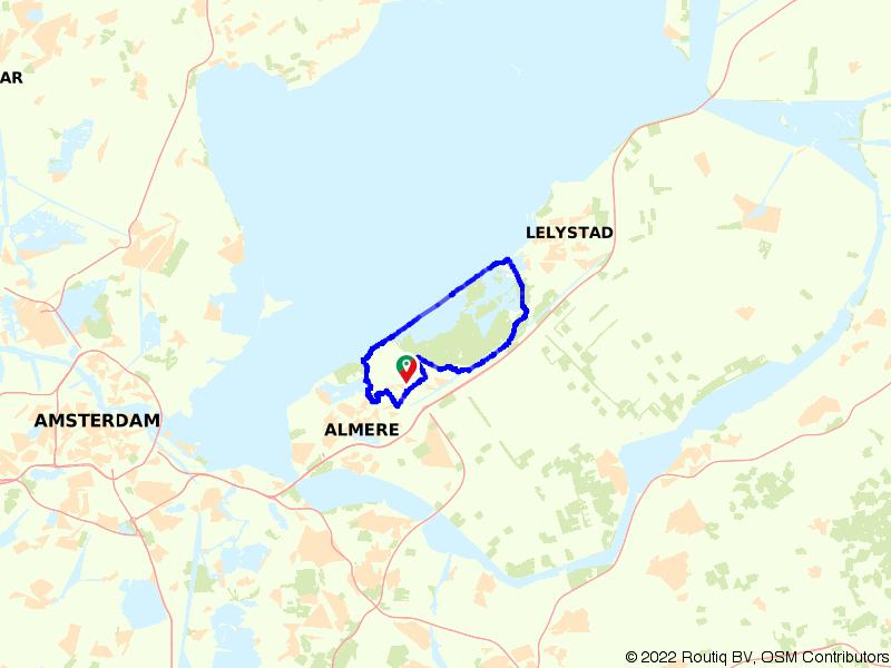 Vanuit Almere langs de Oostvaardersplassen