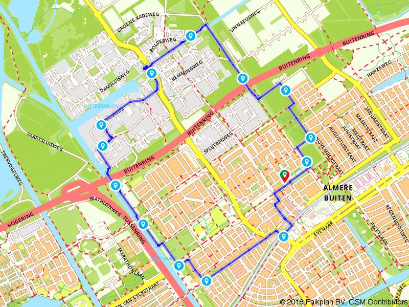 Wandelen door Almere Buiten