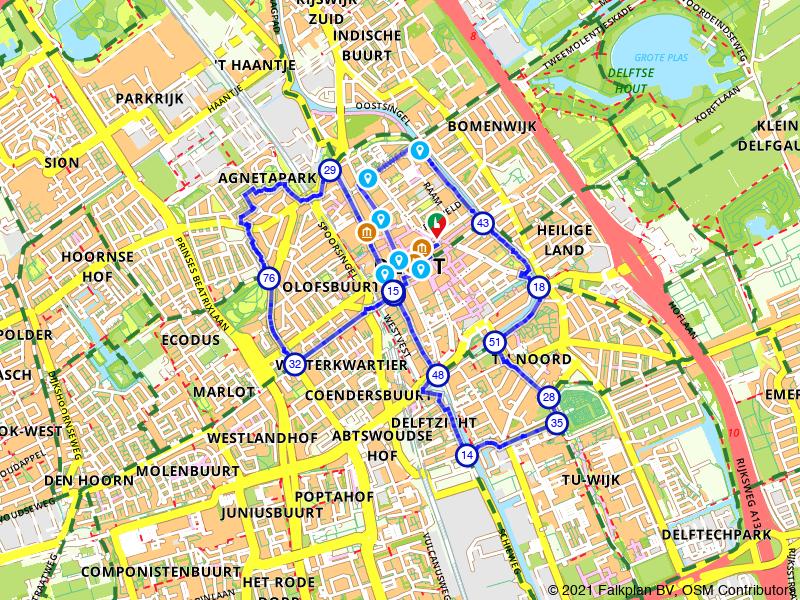 Dwars door historisch Delft wandelen