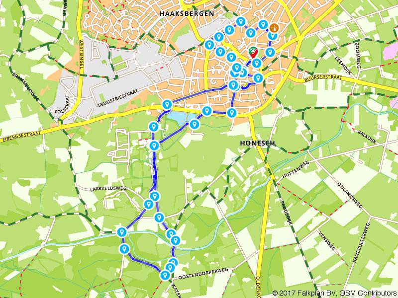 Haaksbergen zien (wandelroute - ook te fietsen)