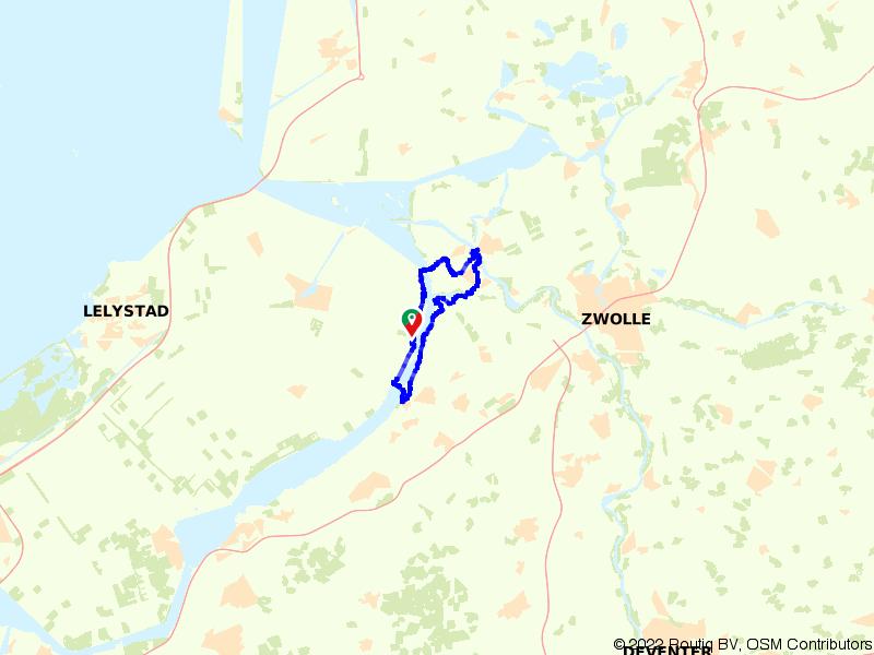 Elburg, Kampen en het Drontermeer