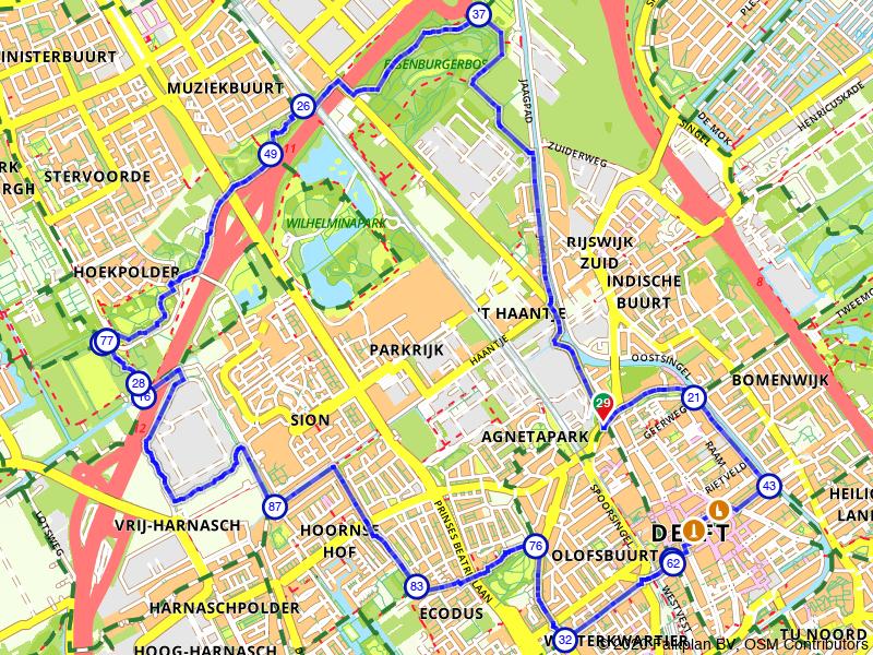 Wandelen door Delft en Rijswijk