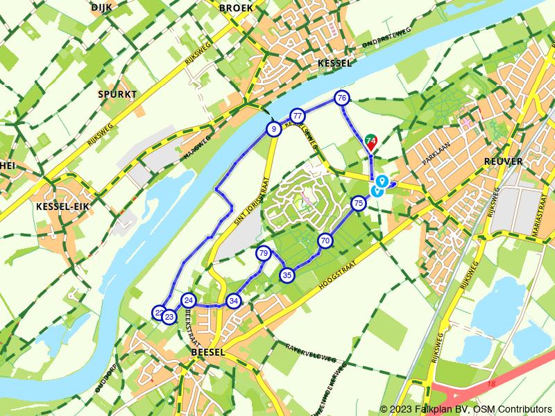 Langs de Maas naar drakendorp Beesel