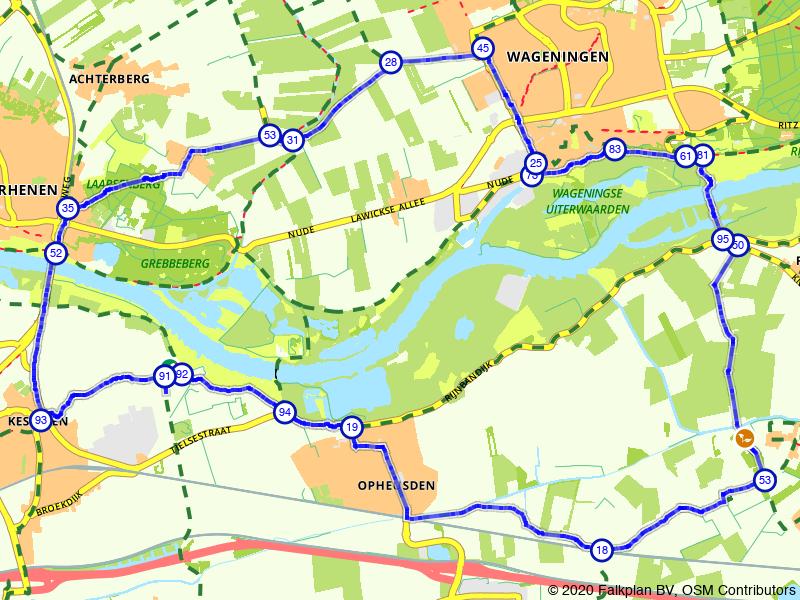 Een rondje langs Rhenen, Wageningen en Kesteren