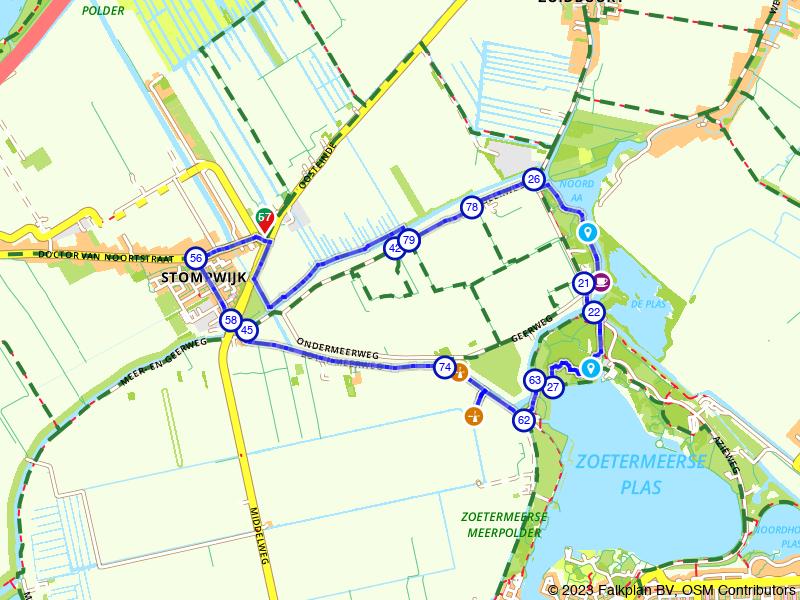 Wandelen door de polders bij Stompwijk