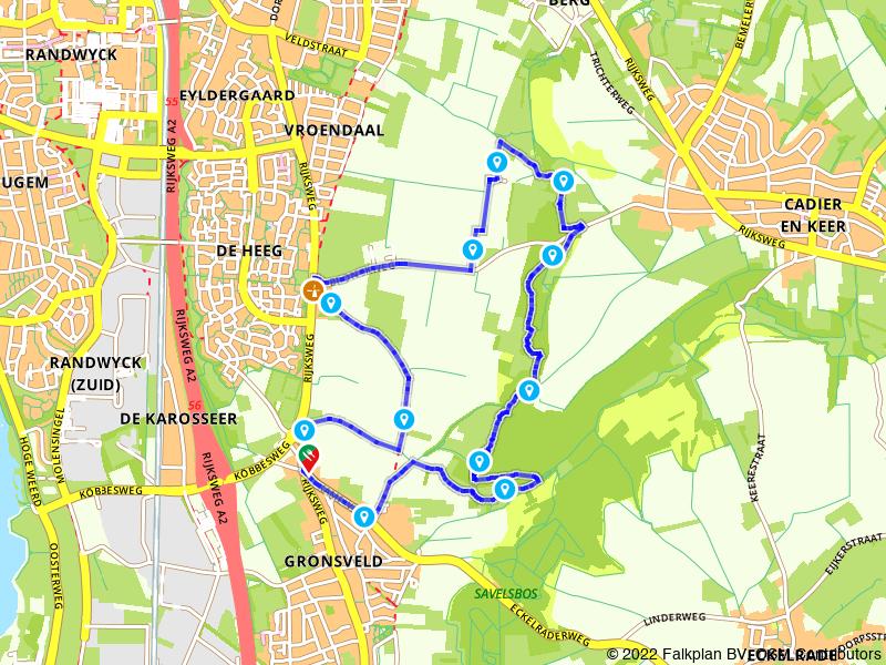 Wandelen door de heuvels bij Maastricht