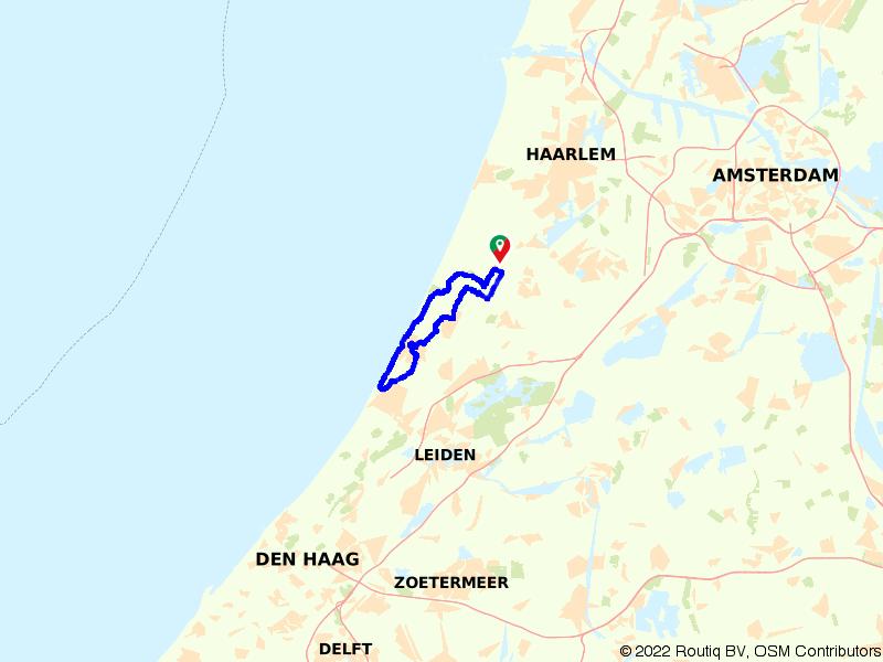 Fietsen door Noordwijk en de duinen