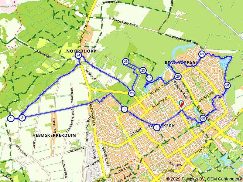 Wandelen door Heemskerk en de duinen