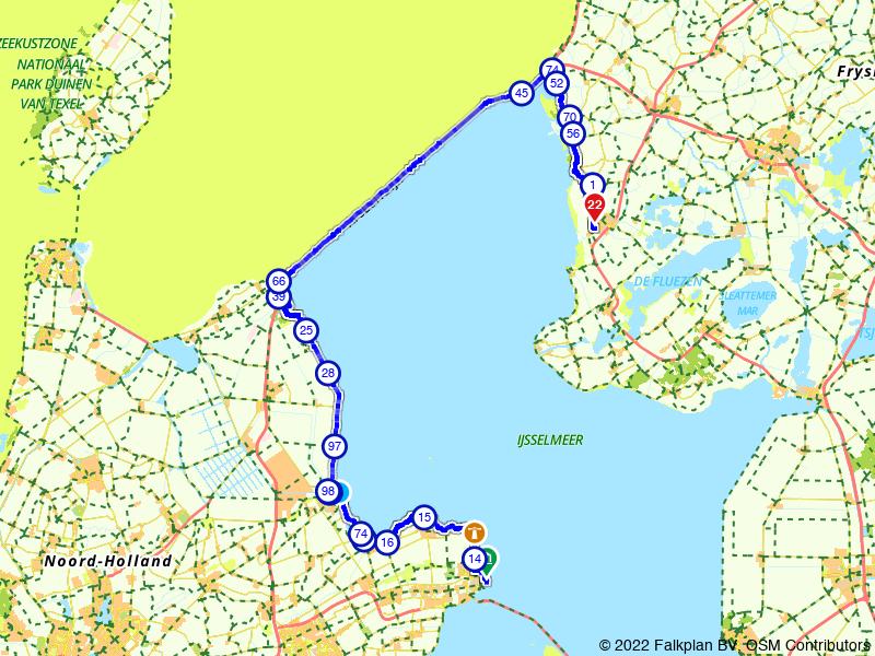Zuiderzeeroute etappe 1: van Enkhuizen naar Workum