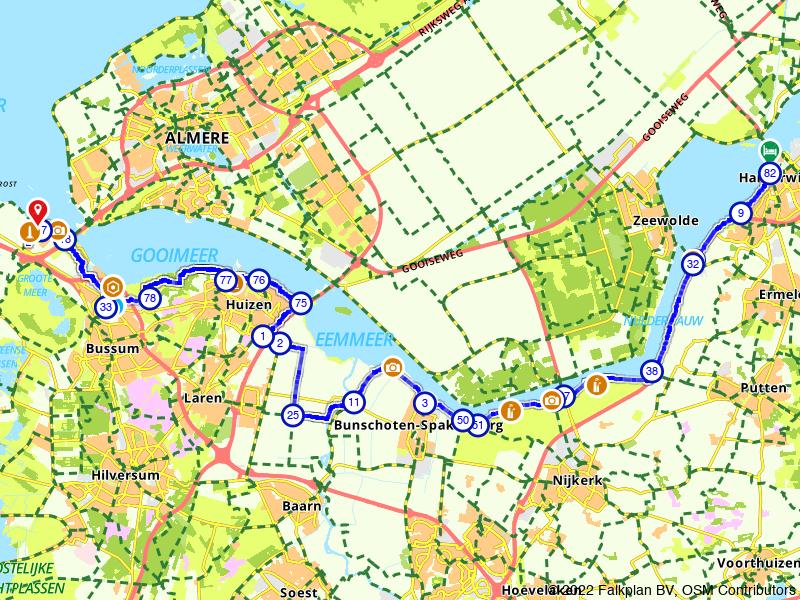 Zuiderzeeroute etappe 5: Van Harderwijk naar Muiderberg