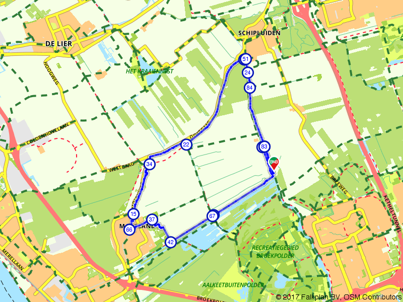 Wandelen door de Vlietlanden bij Vlaardingen