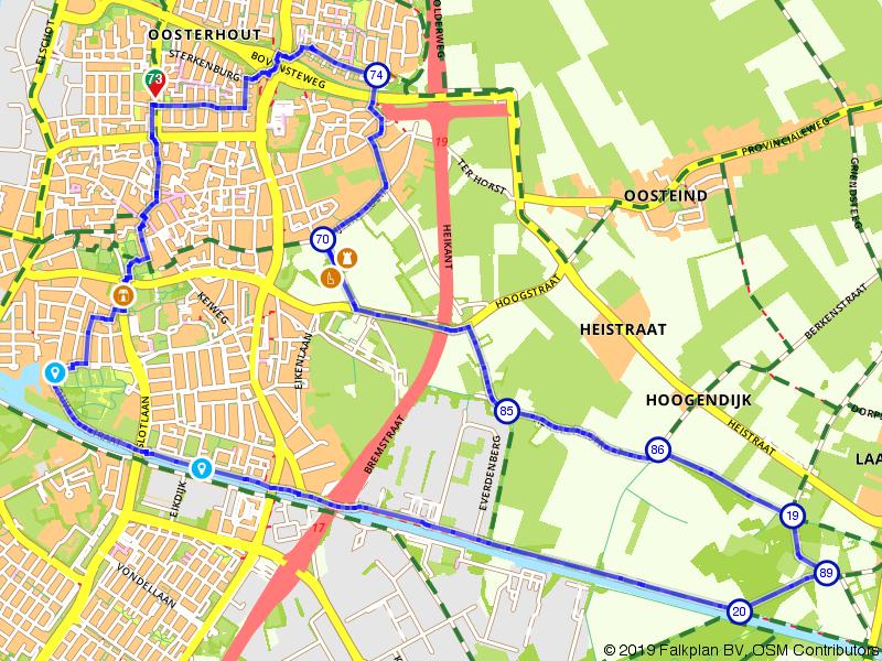 Wandelen door Oosterhout