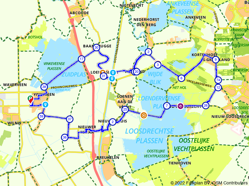 Fietsen langs de Vinkeveense en Loosdrechtse Plassen