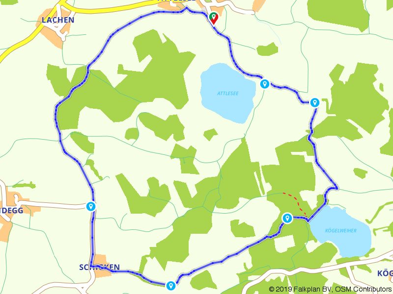 'Füllhorn' tocht door het landschap rond de Attlesee en de Kögelweiher