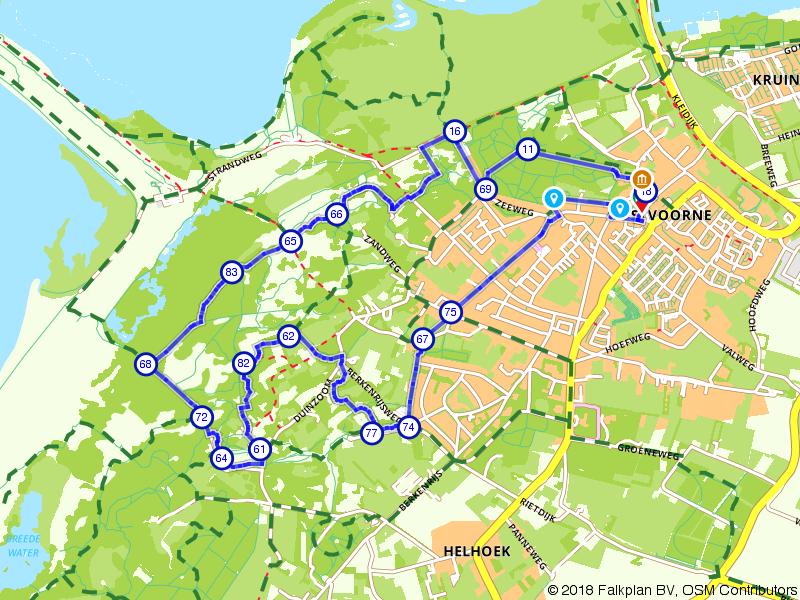 Wandelen door Oostvoorne en Voornes Duin