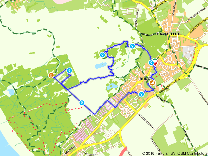 Wandelen door Burgh en omgeving