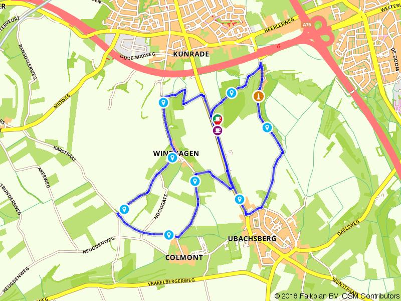 Wandelen door de heuvels bij Heerlen