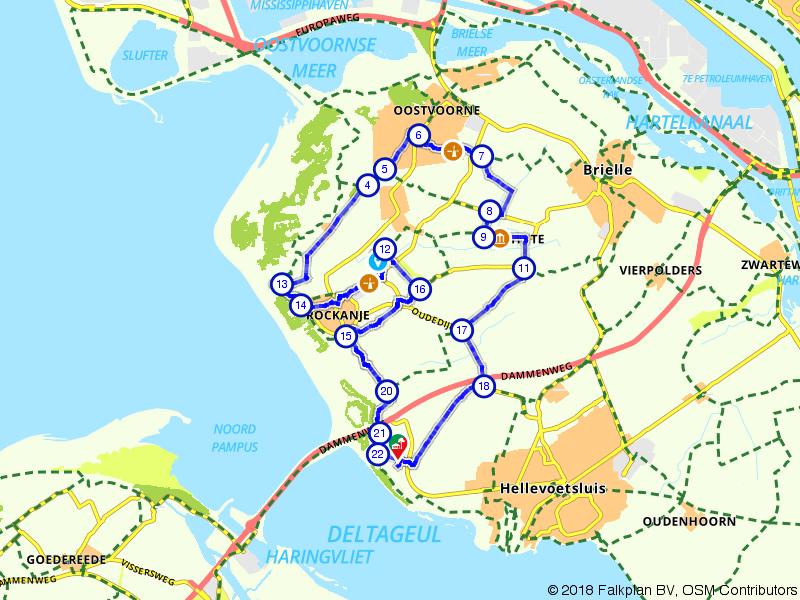 Afstaproute Oostvoorne en Voornes Duin