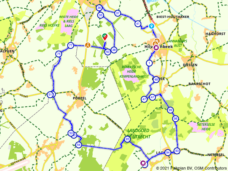 De uitgestrekte landgoederen bij Hilvarenbeek