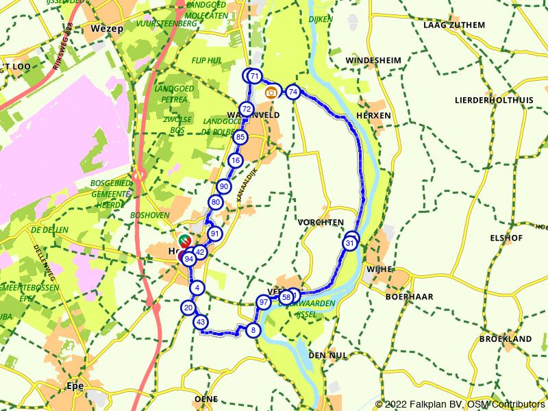Een rondje Heerde en IJsselvallei
