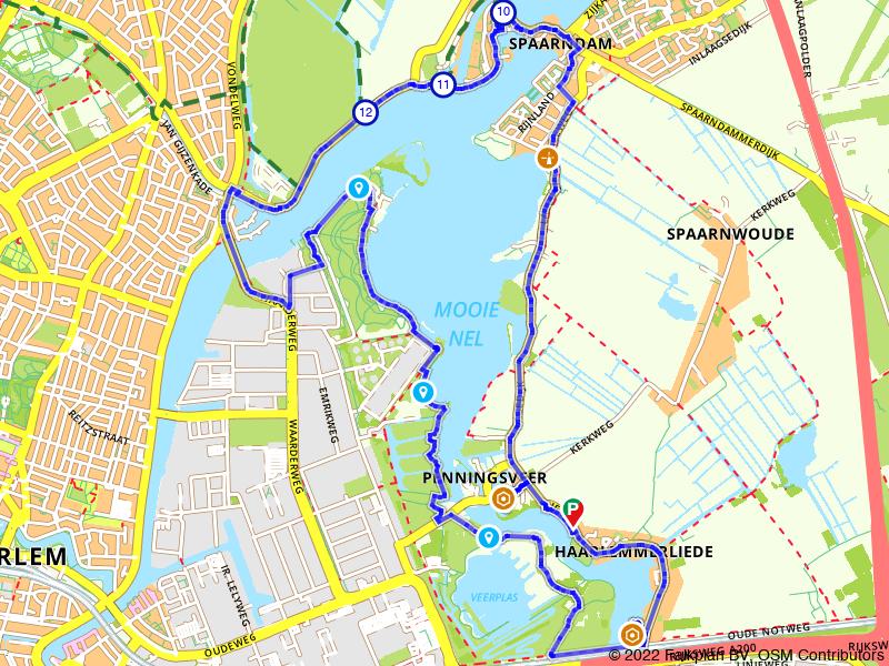 Wandelen door Spaarndam en langs Mooie Nel