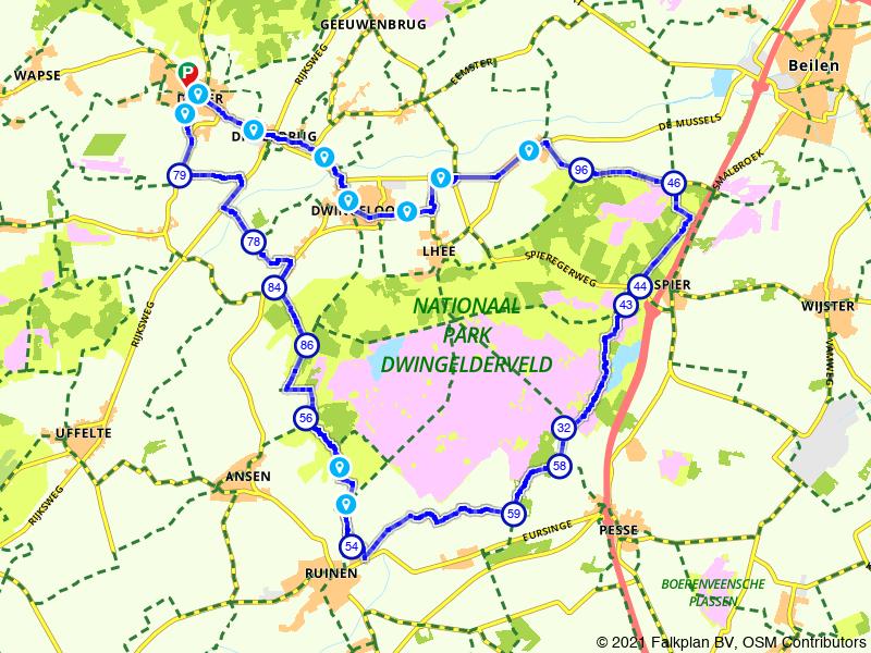 Drentse Fiets4Daagse fietsroute - 40km vanuit Diever
