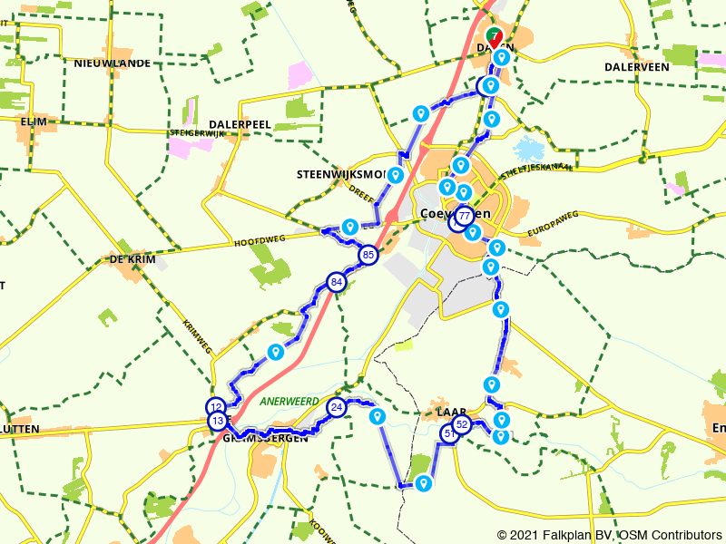 Drentse Fiets4Daagse - fietsroute 40km
