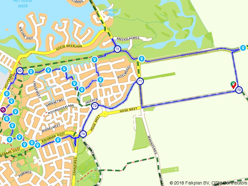 Benoorden Goes route