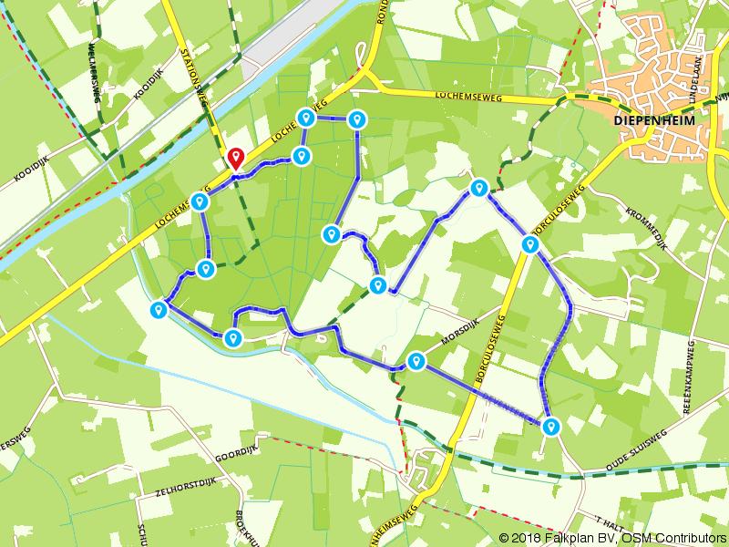 Route Westerflier en buitengebied Diepenheim