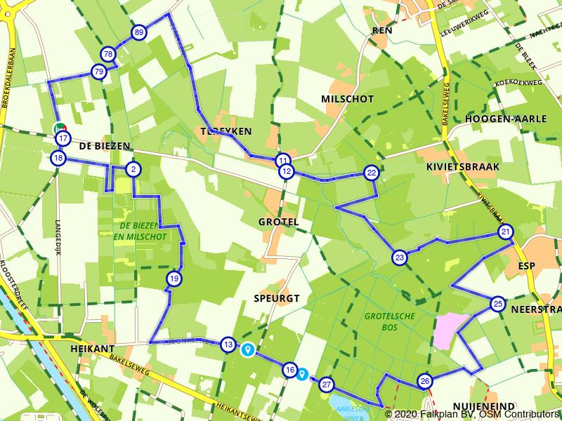 Wandelen door de bossen boven Helmond