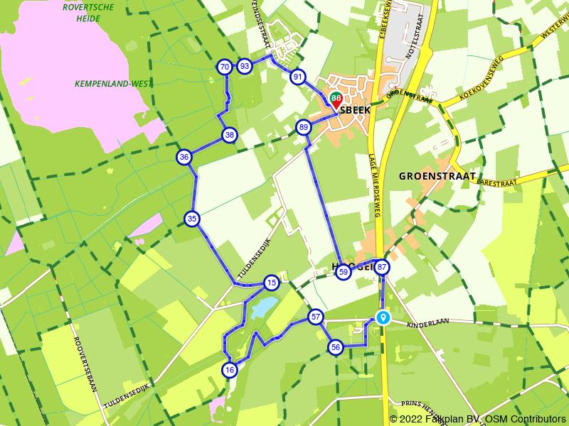 Wandelen door Esbeek en de bossen