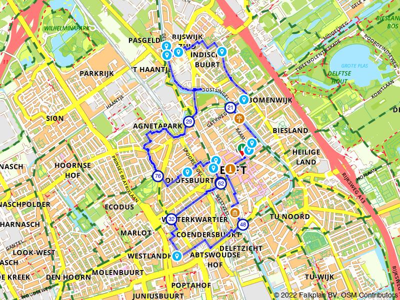 Een mooie wandeling door Delft