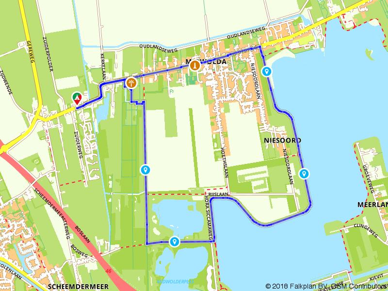 Wandelen door Midwolda en langs het Oldambtmeer