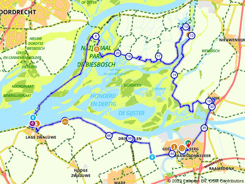 Naar de Biesbosch vanuit Raamsdonksveer