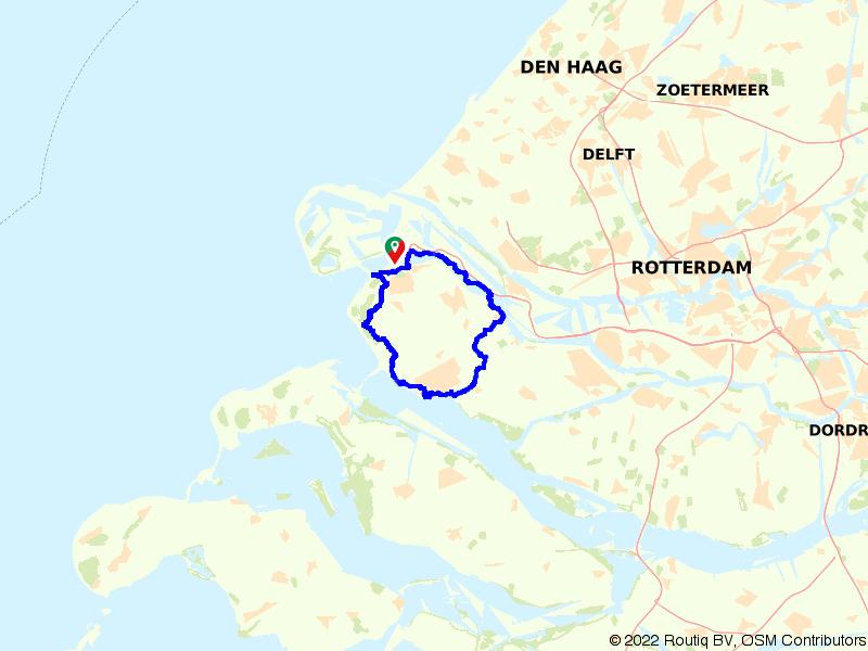 Fietsroute over Voorne-Putten