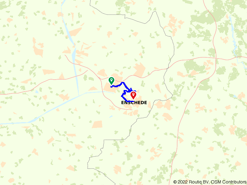 Treinfietsen: van Hengelo naar Enschede