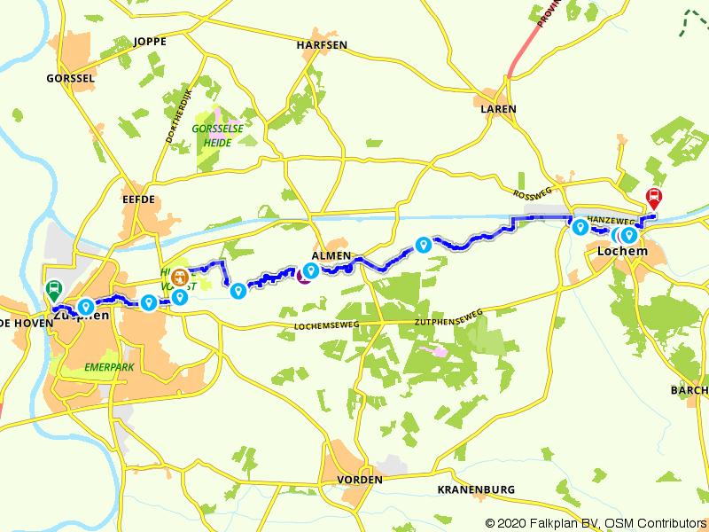 Treinwandelen Zutphen-Lochem via Huis De Voorst