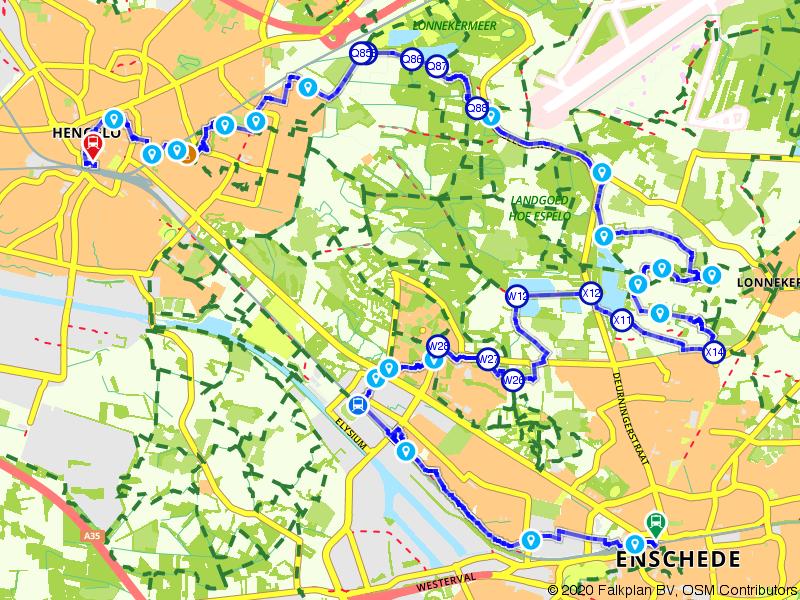 Treinwandeling van Enschede naar Hengelo