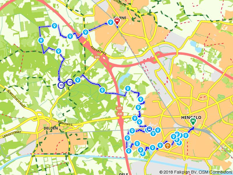 Blauwnet wandeling Hengelo - Borne