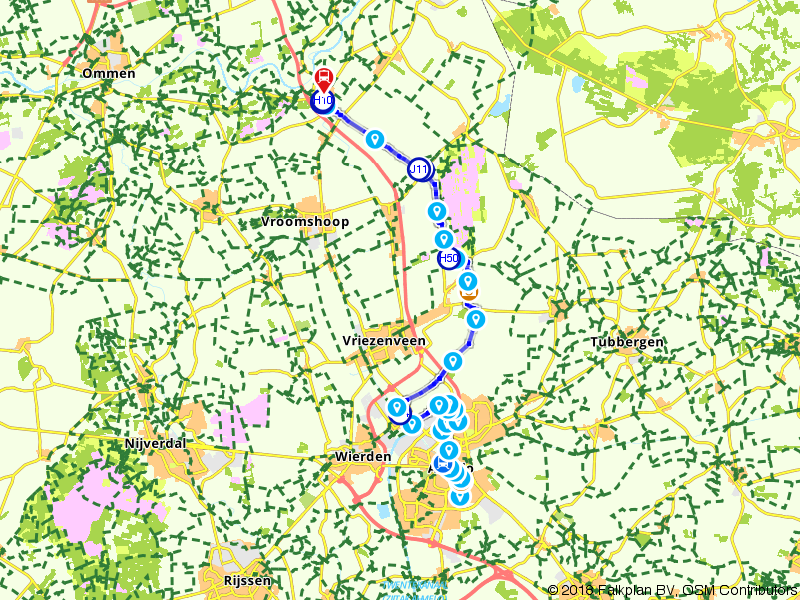 Blauwnet wandeling Almelo de Riet - Almelo - Mariënberg