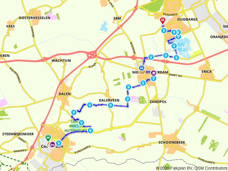 Treinwandelen van Coevorden naar Emmen