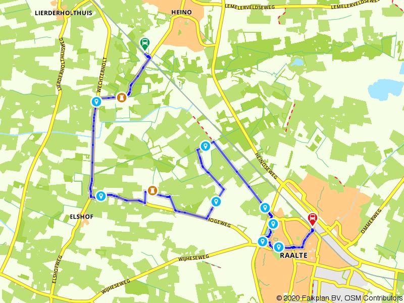 Treinwandelen: kastelenroute Heino-Raalte